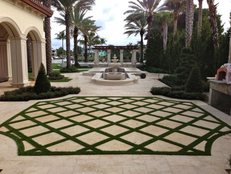 Synthetic Turf Strips Pavers