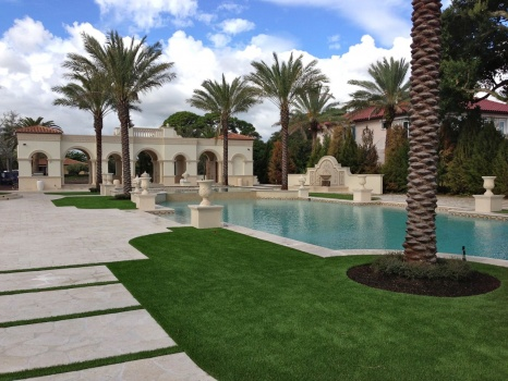 Artificial Grass around Pool