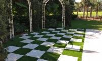 Artificial Grass Checkerboard