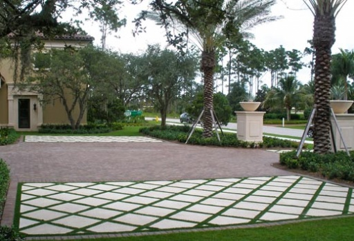 synthetic grass driveway