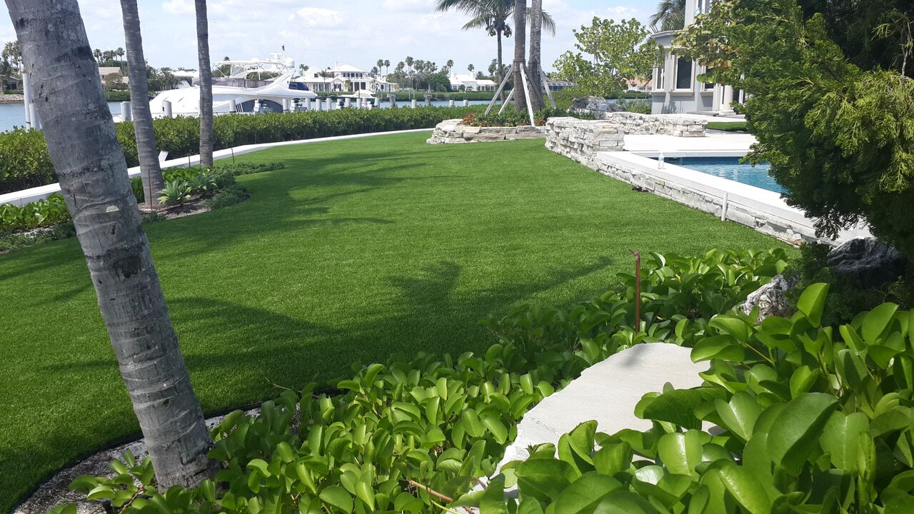 how do synthetic lawns in miami boost my home;s curb appeal