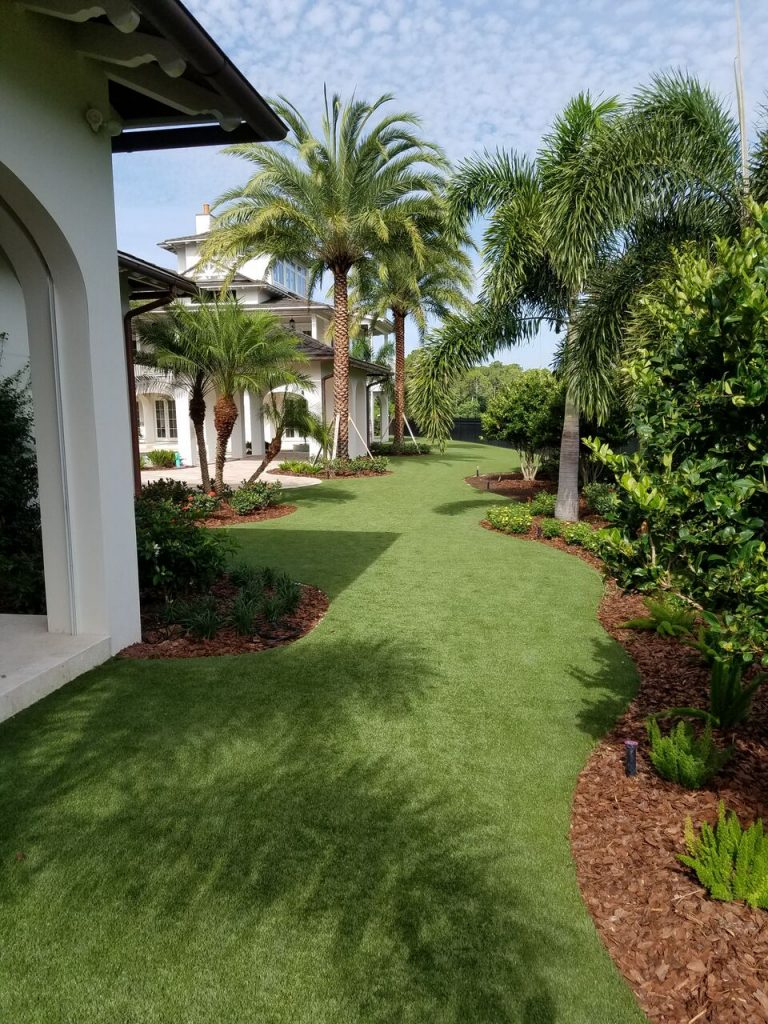 Who can lay down artificial turf in Orlando?