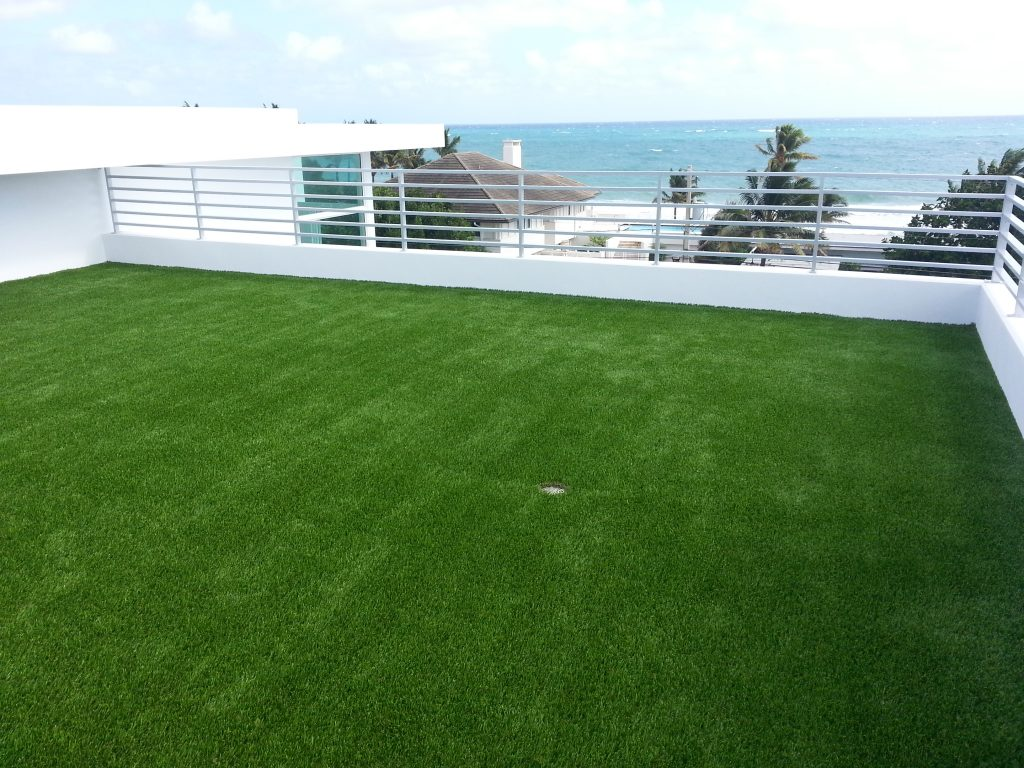 A backyard with Synthetic Lawns in Orlando