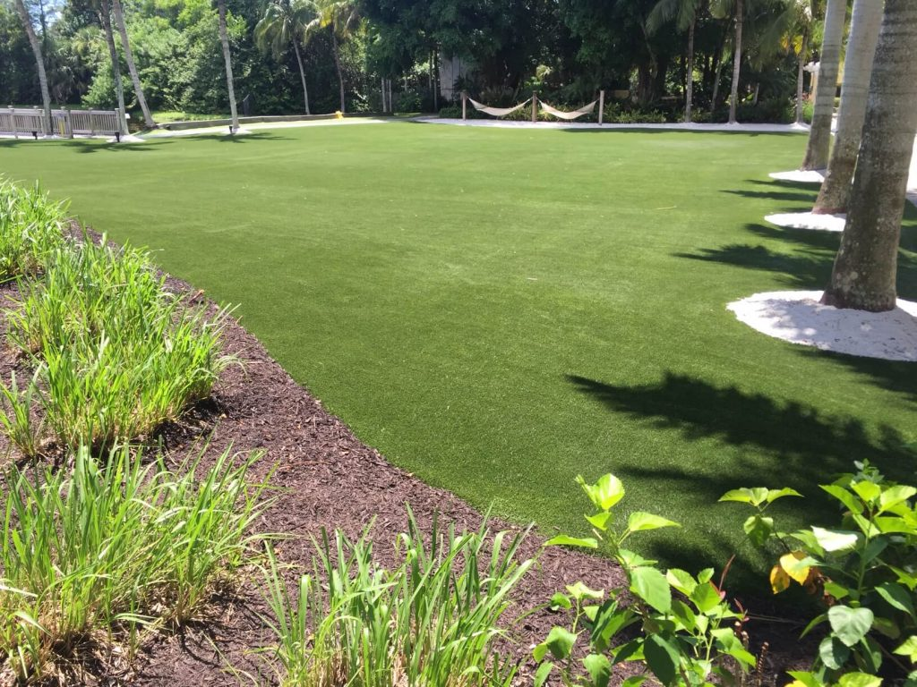 resort using artificial turf in West Palm Beach